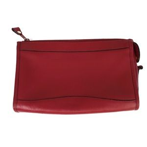 Nordstrom Red Leather Clutch